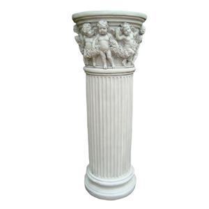 Columna de angeles terminado piedra de 32x32x83cm