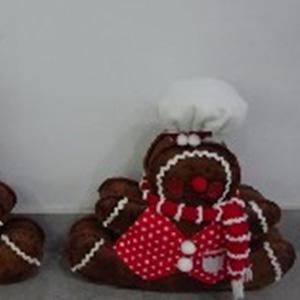 Muñeco de galleta con traje rojo de 32cm