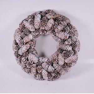 Corona de piñas nevadas de 32x32x7cm