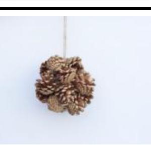 Esfera de piñas doradas de 13cm