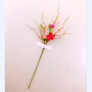 Vara con flores de acrilico rosas de 60 cm