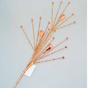 Vara con cuentas color cobre de 75cm
