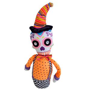 Esqueleto con traje naranja de 46cm