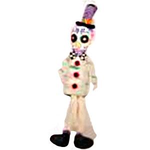 Esqueleto de patitas colgantes con traje vendado de 56cm