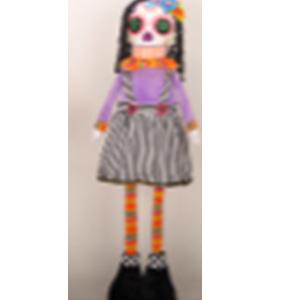 Esqueleto con vestido vino de 43cm