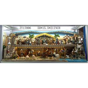 Decoracion Nacimiento de 74 piezas de 127x39x53cm