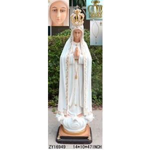Virgen de Fátima de 36x26x120cm