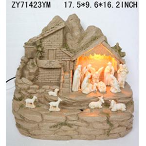 Fuente diseño Nacimiento con luz de 45x25x42cm