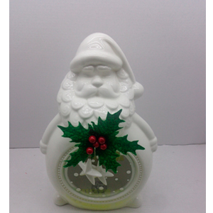 Candelabro diseño Santa blanco con luz led de 19x11x29cm