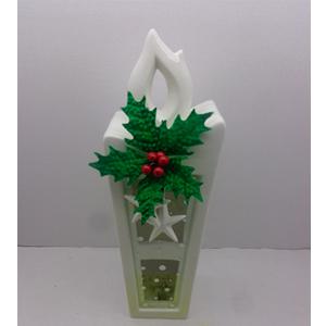 Candelabro diseño vela blanca de 11x8x34cm
