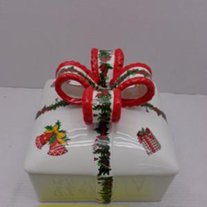 Caja blanca diseño regalo navideño de 15x15x13cm