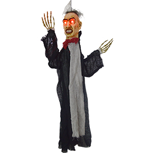 Fantasma de Mr. Haing con traje negro con luz led de 80x81x10.5cm