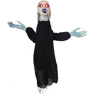 Fantasma de mujer recostada bocabajo con luz led de 110cm