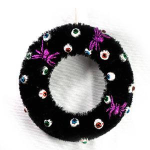 Corona negra con ojos de 41x41x8.5cm