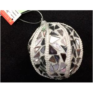 Esfera blanca con espejos de 10cm
