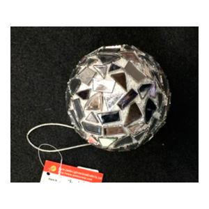 Esfera blanca con espejos de 8cm
