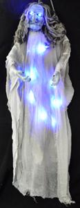 Bruja parada con luz led azul de 160x140x20cm