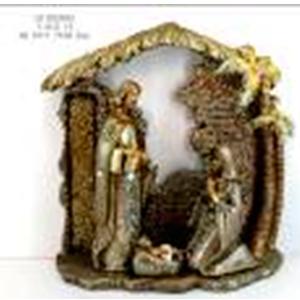 Misterio en portal dorado de 30.5x11.7x30.5cm