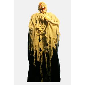 Figura de momia con luces en los ojos de 180x50x20cm