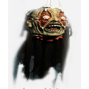 Cabeza de Zombi colgante con luz en los ojos de 60x30x25cm
