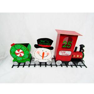 Tren de lámina diseño navideño de90x22x42cm