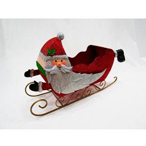 Trineo navideño diseño santa de 70x22x44cm