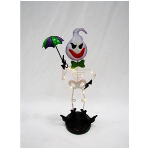 Fantasma con cuerpo de esqueleto con luz de lámina (usa 2 baterias triple A) de26x14x48cm