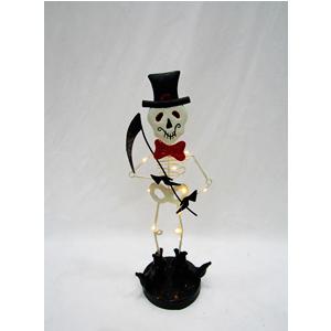 Esqueleto con luz de lámina (usa 2 baterias triple A) de 20x14x48cm