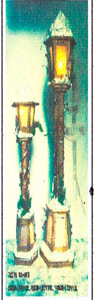 Farol de madera nevado de 60x17cm (Usa 2 baterias doble A)