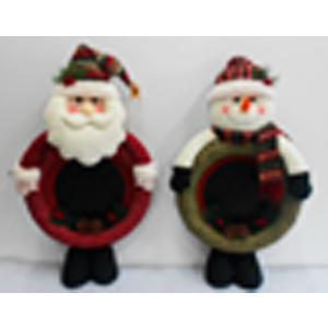 Pozarron diseño muñeco de nieve de tela verde de 71cm
