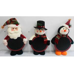 Pizarrón diseño muñeco de nieve de tela de 56cm