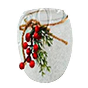 Candelabro de cristal escarchado con moras de 15x12cm
