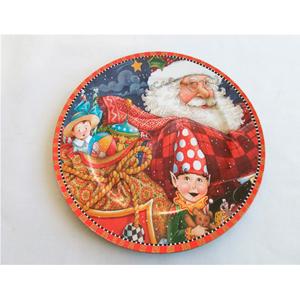 Plato de presentación con estampado de Santa y Niño de 33x33cm