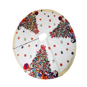 Pie de árbol con fibra óptica diseño Árbol con esferas (usa baterias AA) de 122cm