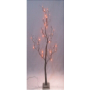 Arbol con luces led rojas de 120cm