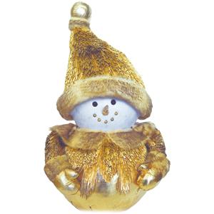 Muñeco de Nieve dorado de 29x29x56cm