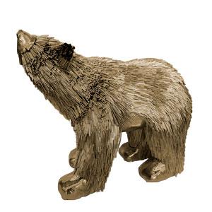 Oso polar dorado de 36x14x24cm