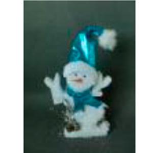 Muñeco de nieve con traje azul de 26x5x35cm
