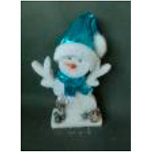 Muñeco de nieve con traje azul de 26x5x45cm