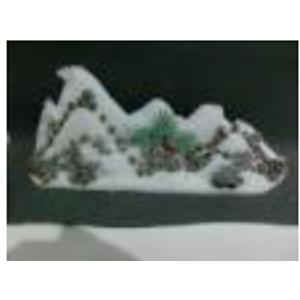 Montaña nevada con árboles de 77x27cm