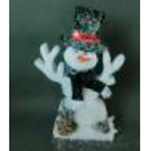 Muñeco de nieve con traje negro de 26x5x39cm