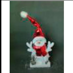 Muñeco de nieve con gorro y bufanda roja de 26x5x45cm
