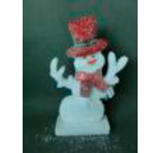 Muñeco de nieve rojo de 26x5x39cm
