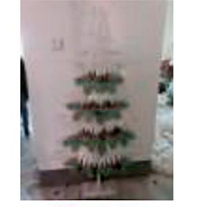 Árbol nevado con cerezas de 170cm