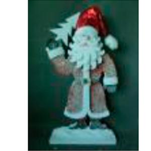 Santa con traje rojo y pino de 95cm