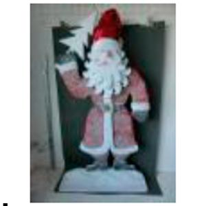 Santa con traje rojo de 155cm