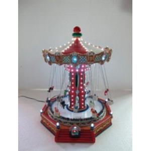 Carrusel con canastillas, música y luces de 34x36x44cm
