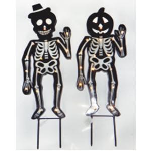 Figura de esqueleto con luz para jardín de 90 cm usa AAA