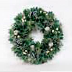 Corona de piñas verdes de 36x36x9cm