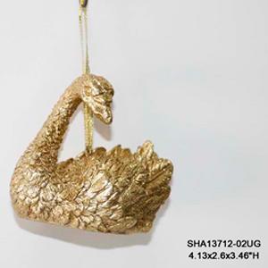 Cisne dorado colgante de 9x10cm